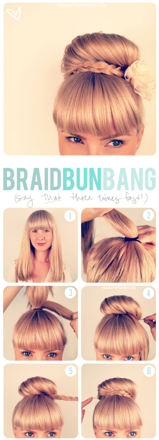 Updo-and-Bangs
